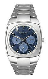 Kenneth Cole Multifunction Barrel Blue Dial Mens Watch #KC3310