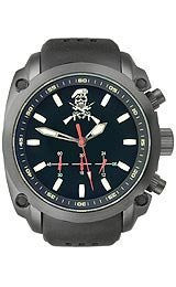U.S.Agency Military - Black with Silicone Band Mens watch #MILITARYSKULL&B