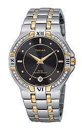 Pulsar by Seiko Two-Tone Stainless Steel Mens watch #PXH530