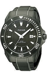 Pulsar Active Sport Black Stainless Steel Mens watch #PS9159