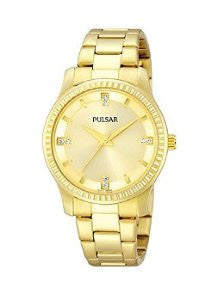 Pulsar Three-Hand Stainless Steel - Gold-Tone Womens watch #PH8102