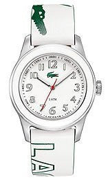 Lacoste Sport Collection Advantage Leather Strap White Dial Womens watch #2000518