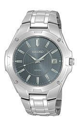 Seiko Mens Steel Dress Bracelet watch #SGEE59