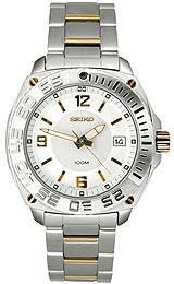 Seiko Mens Two-tone watch #SGEB78