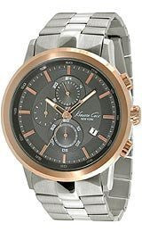 Kenneth Cole New York Chronograph with Silver Link Strap Mens watch #KC9258