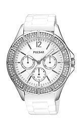 Pulsar by Seiko Multifunction White Silicone Womens watch #PYR049