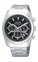 Pulsar Chronograph Stainless Steel Mens watch #PT3123X