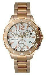 Nautica BFD 101 Chronograph Rose-gold Mens watch #N24530M
