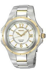 Seiko Coutura Collection Silver-tone Dial Mens Watch #SGEE68
