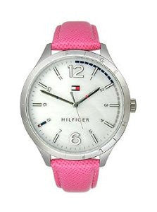 Tommy Hilfiger Mother-Of-Pearl with Pink Strap Womens watch #1781544