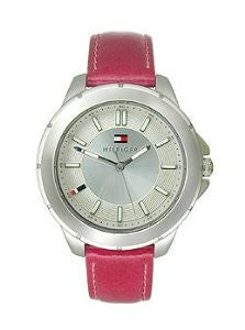 Tommy Hilfiger Three-Hand Pink Leather Womens watch #1781430
