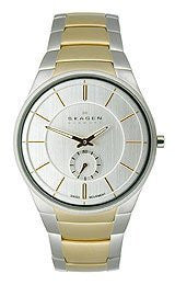 Skagen Black Label Three-Hand Date Stainless Steel - Two-Tone Mens watch #SKW6060
