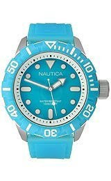 Nautica Blue Jelly Strap Mens watch #N09602G