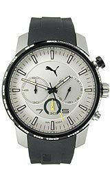 Puma Essence - Silver Black Chrono Mens watch #PU103051001