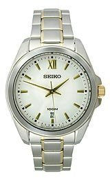 Seiko Two-Tone Stainless Steel Analog Mens watch #SGEG63