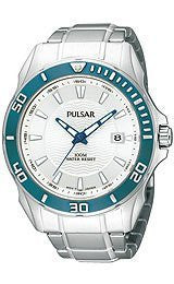 Pulsar by Seiko Active Sport Stainless Steel Mens watch #PS9161