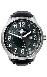 HydrOlix 3-Hand Black Leather/Black Dial Unisex watch #XA00222