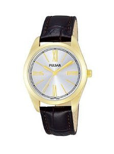 Pulsar Easy Style Three-Hand Leather - Brown Womens watch #PG2012