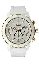Lacoste Charlotte Chronograph Silicone - White Womens watch #2000798