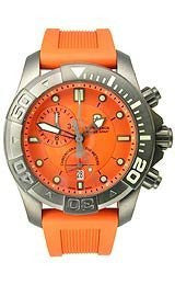 Victorinox Swiss Army Dive-Master 500 Chrono Orange Dial Mens watch #241423