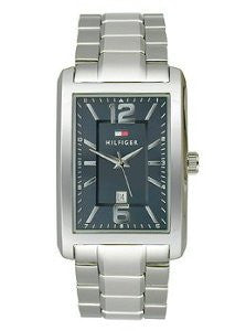 Tommy Hilfiger Three-Hand Silver-Tone Stainless Steel Mens watch #1791075