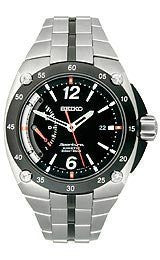 Seiko Sportura Black Dial Mens Watch #SRG005
