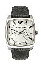 GIORGIO ARMANI Armani Mens Leather Collection watch #AR0309