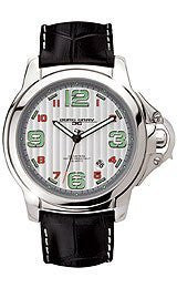Jorg Gray Leather Silver Dial Mens watch #JG1850-26
