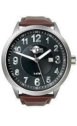 HydrOlix Three-Hand Brown Leather/Black Dial Mens watch #XA00217
