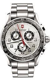 Victorinox Swiss Army Chrono Classic XLS Silver Dial Mens watch #241445