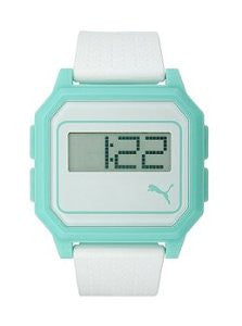 Puma Flat Screen White Aqua Digital Mens watch #PU910951008