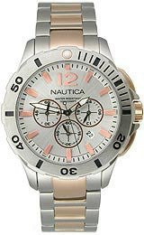 Nautica BFD 101 Chronograph Two-tone Stainless Steel Mens watch #N27525G