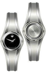 Movado Swing Black Museum Dial Womens Watch #0606175