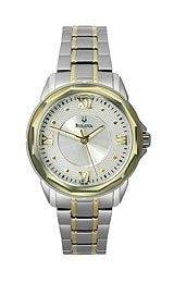 Bulova Stainless Steel Silver-Tone Dial Womens Watch #98L166