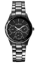 Skagen Steel Collection Charcoal Grey Dial Womens Watch #344LMXM