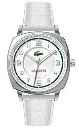 Lacoste Sportswear Collection Palma Leather Strap White Dial Womens watch #2000598