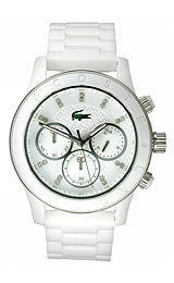 Lacoste Charlotte Chronograph Plastic - White Womens watch #2000805