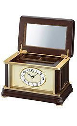 Seiko Clocks Emblem Collection Wooden Jewelry Box clock #AHW002BLH