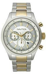Nautica BFD 104 Chronograph Two-Tone Stainless Steel Mens watch #N22618G