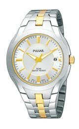 Pulsar by Seiko Two-tone Stainless Steel Mens watch #PXHA25