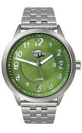 HydrOlix Three-Hand Stainless Steel/Green Dial Mens watch #XA00204
