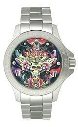 Christian Audigier Eternity Collection Skulls And Roses Dial Unisex watch #ETE107