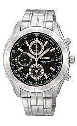Seiko Chronograph Stainless Steel Mens watch #SNDC37P1