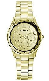 Skagen Steel Collection Gold-Tone Dial Womens Watch #344LGXG