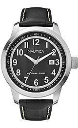 Nautica NCT 401 Classic Black Leather Mens watch #N13604G