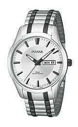 Pulsar Expansion Two-Tone Stainless Steel Mens watch #PJ6047