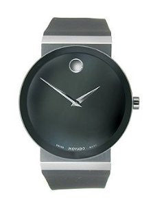 Movado Sapphire Two-Hand Black Rubber Mens watch #0606780