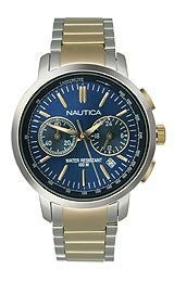 Nautica NCT 800 Chronograph Two-tone Stainless Steel Mens watch #N23604M