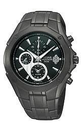 Pulsar Chronograph Steel Bracelet Black Dial Mens watch #PF3961