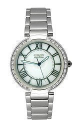 Citizen Diamond Eco-Drive White Dial Womens Watch #EM010055A